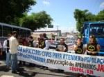 Candidatos protestam na Av. Rio Branco